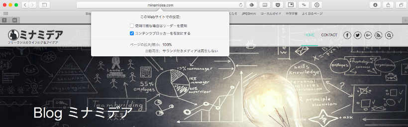 SafariがWebサイト毎に設定可能に