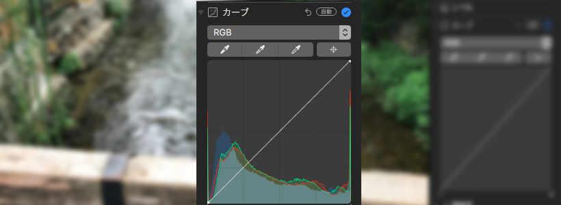 Mac High Sierra写真アプリのカーブの使い方